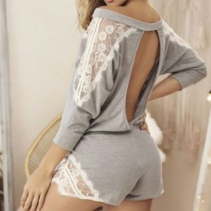 Sleep Romper Color Gray